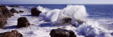 Waves Breaking on the Coast  Santa Cruz  Santa Cruz County  California  USA