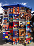Pillow Covers for Sale at a Handicraft Market  Otavalo  Imbabura Province  Ecuador