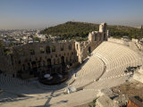 View of an Amphitheater  Odeon of Herodes Atticus  Acropolis  Athens  Attica  Greece