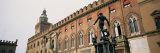 Statue in Front of Palace  Fountain of Neptune  Palazzo D'Accursio  Piazza Maggiore  Bologna  Italy