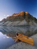 Canoe at the Lakeside  Bow Lake  Alberta  Canada