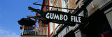 Signboard Outside of Restaurant  Gumbo File Restaurant  French Market  New Orleans  Louisiana