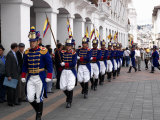 Soldiers Parade During Changing of the Guard Ceremony  Plaza De La Independencia  Quito  Ecuador