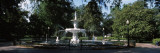Fountain in a Park  Forsyth Park  Savannah  Chatham County  Georgia  USA
