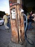 Old Fuel Pump Along a Street  San Francisco Street  San Miguel De Allende  Guanajuato  Mexico