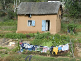 Clothes Drying on a Clothesline in Front of a House  Madagascar