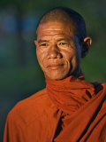 Burma  Rakhine State  A Buddhist Monk Enjoys the Late Afternoon at Sittwe  Myanmar