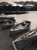 Rowing Boats  Derwent Water  Lake District  Cumbria  UK