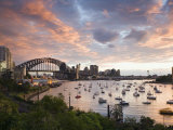 New South Wales  Lavendar Bay Toward the Habour Bridge and the Skyline of Central Sydney  Australia