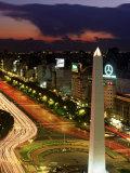 Avenida 9 De Julio  Buenos Aires  Argentina  Obelisko