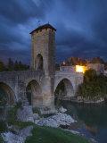 Fortified Bridge over the Gave De Pau  Orthez  Pyrenees-Atlantiques  Aquitaine  France