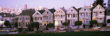 Postcard Row Houses in City  Seven Sisters  Painted Ladies  Alamo Square  San Francisco  California