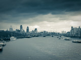 River Thames and City of London  London  England