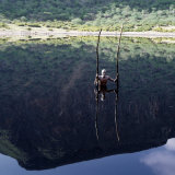 Extinct Volcano at Chew Bet in Southern Ethiopia Has a Dark  Seasonal Lake at Bottom of Crater