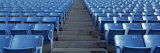 Empty Blue Seats in a Stadium  Soldier Field  Chicago  Illinois  USA