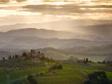 Landscape  San Gimignano  Tuscany  Italy