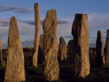 Sunset over the Central Circle of Ancient Standing Stones at Callanish  Dating to Neolithic Times