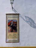 Poster Adveritising a Bull Fight on the Exterior of the Bull Ring  Plaza De Torres De La Maestranza