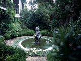 Fountain in a Garden  Savannah  Chatham County  Georgia  USA