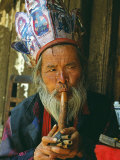 Naxi Dongba  or Wise Man or Shaman  Traditionally Acted as a Mediator with Spirit World