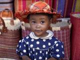 Young Girl Beside a Road-Side Stall Near Antananarivo  Capital of Madagascar