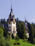 Transylvania  Sinaia  the Tower of Peles Castle  Romania