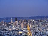 California  San Francisco  Skyline Viewed from Twin Peaks  USA