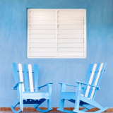 Traditional Rocking Chairs in Vinales  Cuba  Caribbean