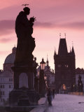 Old Town and Charles Bridge at Dawn  Prague  Czech Republic