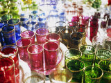 Marrakesh Colourful Moroccan Glassware in the Souqs of Marrakesh  Morocco