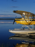 Alaska  Nondalton  Cessna Floatplane Parked on Still Waters of Six Mile Lake  Valhalla Lodge  USA