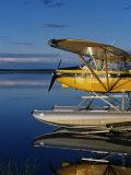 Alaska  Nondalton  Cessna Floatplane Parked on Still Waters of Six Mile Lake  Valhalla Lodge  USA