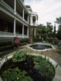 Fountains in Front of Mansion  Calhoun Mansion  Charleston  Charleston County  South Carolina  USA