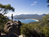 Wineglass Bay Lookout on the Freycinet Peninsula  Tasmania  Australia