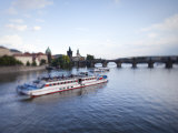 Tour Boat on Vltava River  Prague  Czech Republic