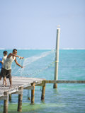 Net Fishing  Caye Caulker  Belize