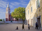 Children Play at Governor's Palace Front  Ilha Do Mozambique  Old Capital of Portuguese East Africa