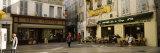 Group of People at a Town Square  Rue De La Republique  Avignon  Provence-Alpes-Cote D'Azur  France