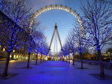 London Eye Is Giant Ferris Wheel  Banks of Thames Constructed for London's Millennium Celebrations