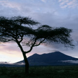 Dawn Breaks over Mount Meru  Tanzania