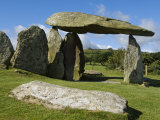 Wales  Pembrokeshire  the Site of the Ancient Neolithic Dolmen at Pentre Ifan  Wales's Most Famous
