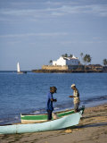 Fishermen Prepare their Boats on the Beach on Ilha Do Mozambique