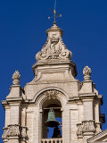 Baroque Bell Tower of St Paul's Cathedral at Heart of Ancient Walled City of Mdina  Malta