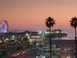 California  Los Angeles  Santa Monica  Santa Monica Pier  Dusk  USA