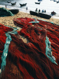 Fishing Nets Laid Out on the Beach after the Day's Wor