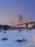 California  San Francisco  Baker's Beach and Golden Gate Bridge  USA