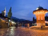 Bascarsija  Old Turkish Quarter and Sebilj Fountain