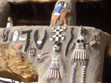 Bandiagara Plateau  Meeting Area in Dogon Village Built into Cliff at Base Bandiagara Plateau  Mali