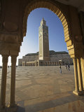 Hassan Ii Mosque in Casablanca  the Third Largest in World after Those at Mecca and Medina  Morocco