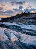 Maine  Pemaquid Peninsular  Pemaquid Point Lighthouse  USA